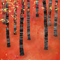 Birches  Painting of a walk through a birch forest in autumn.