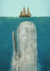 whale nautical sea ocean ship blue