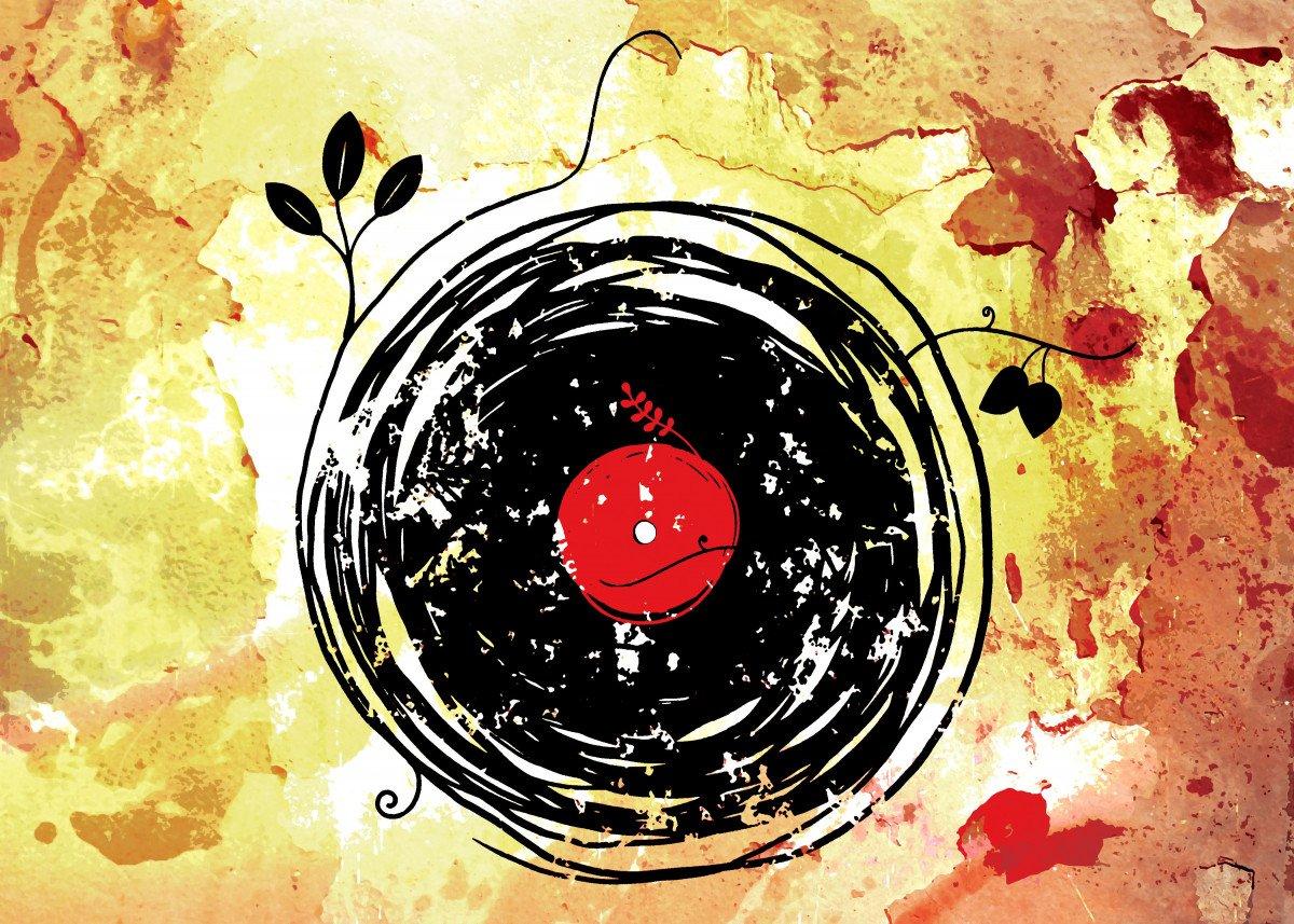 Enchanting Vinyl Records Grunge - I hope you like it =)