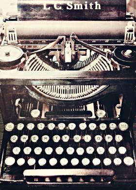 1920s lcsmith typewriter vintage brown keys letters numbers keyboard retro antique