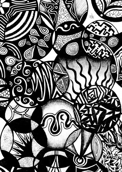 Pom Graphic  Design Black and White   Displate Prints on Steel