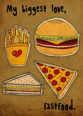 burger cheeseburger fastfood pizza fries yummy delicious vintage doodle drawing dashed