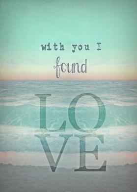 love ocean seaside beach teal mint seagreen seafoam lovequote lovers wedding bedroom sundown sunrise