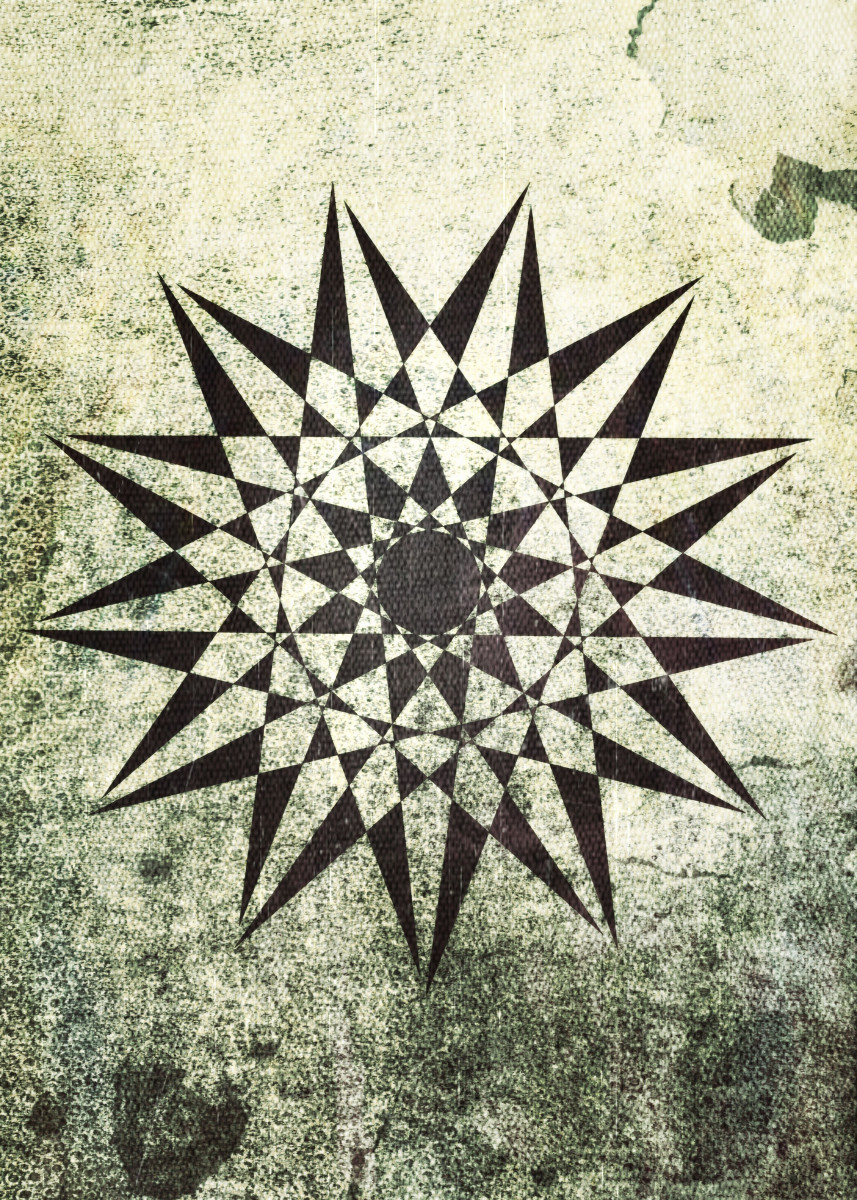 Trippy Star =) Grunge / vintage textures. I hope you like it! =)