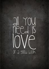 book quote love need typo text chalkboard bureau bookstore livingroom black shabby vintage funny
