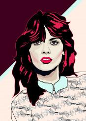 80s pink colour fun woman face portrait beauty