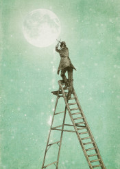 moon stars vintage ladder space victorian ladder