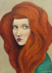 oil girl redhead