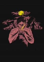 zombies survivor dark last cigarette walkers dead night moonlight black