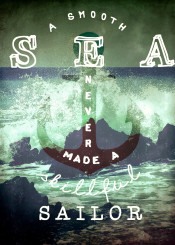 ocean anchor love quote sailor sea rough waves beach storm typo text words vintage rustic green grey