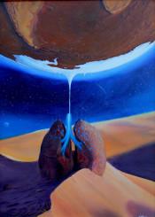 lungs earth planet ice melting desert sand dune