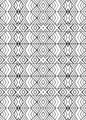tribal aztec native geometric triangles pattern black and white