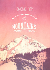mountain quote vintage longing for sports adventure outdoor travel typo text vintage peak snow winte