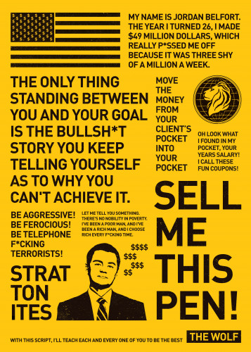 Wolf of Wall Street Poster by Jeff Huynh | Displate