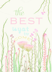 flower spring watercolor illustration painting text typo quote pastel weeds cute kitchen soft lovely