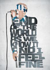 rem michael stipe lyrics music musician type typography band songs