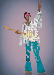 jimi hendrix music musician lyrics band type typography