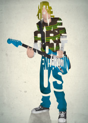 kurt cobain nirvana lyrics band music musician type typography