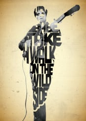 lou reed music musician lyrics wild side type typography