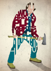 tv movies horror type typography shining stephen king jack torrance