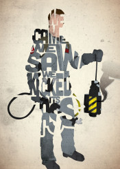 peter venkman ghostbusters 1980s 80s movie film scifi type typography ghost quote