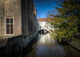 bruges brugge belgium canal gruuthuse gothic