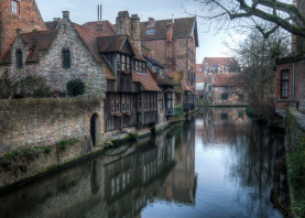 bruges brugge belgium canal water architecture medieval