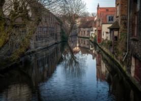 bruges brugge belgium canal architecture water