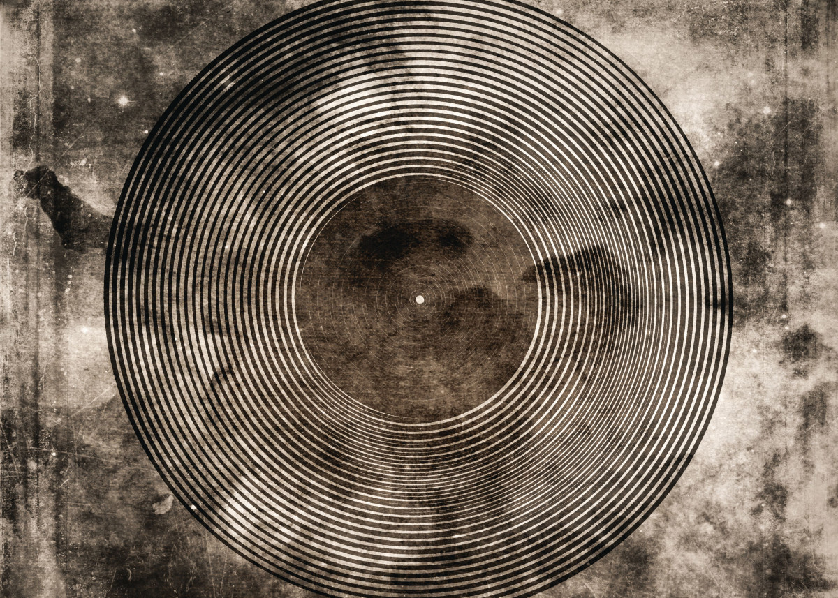 Vintage Vinyl Records Retro Music Art