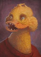 ducks duck portrait funny digital painting weird illustration humor other