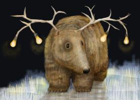 quirky illustration animals