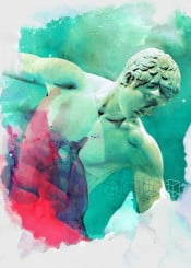 greek sculpture olympic sports young brave naked beauty handsome classical ancient myron disc green