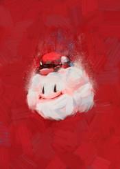 nintendo painting red mario super cloud oil stroke video games