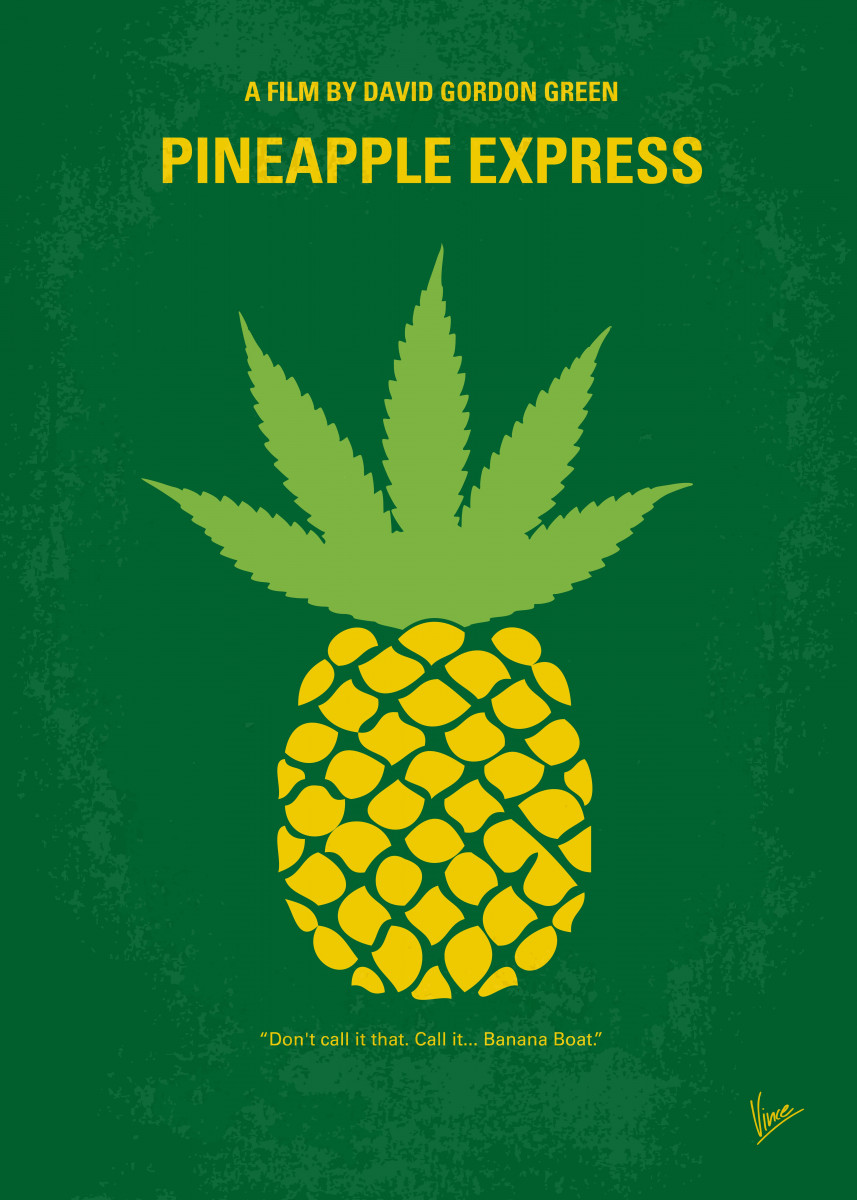 No264 My PINEAPPLE EXPRESS minimal movie poster A process server and 24034