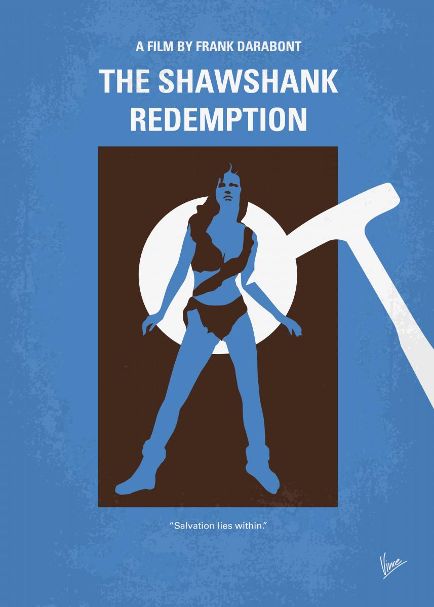 No246 My THE SHAWSHANK REDEMPTION minimal movie poster Two imprisoned