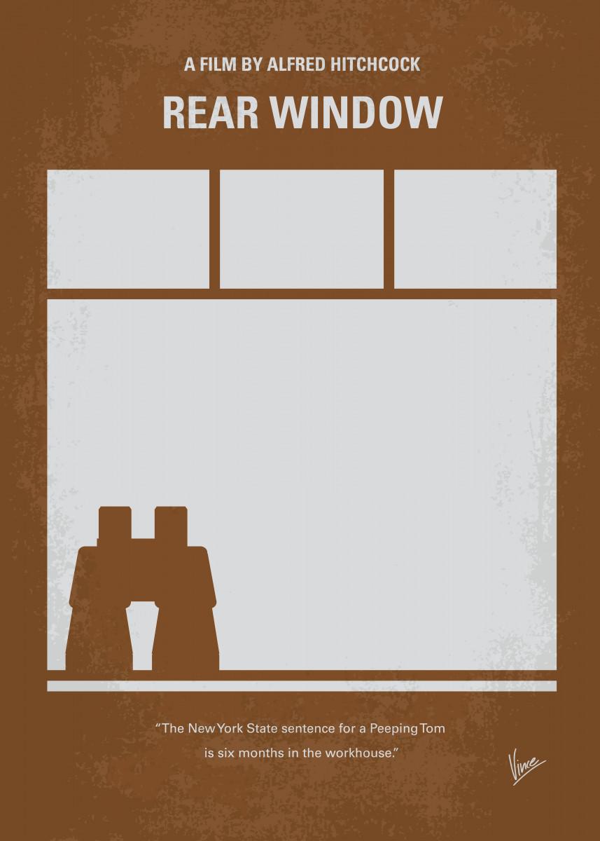 No238 My Rear window minimal movie poster A wheelchair. 24008