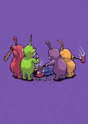 teletubbies 90s ninties nostalgia purple funny wtf cartoon tv movie film pop culture ronan lynam