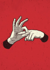 innuendo sex dirty sign language fingers hands red graphic illustration funny gross wtf ronan lynam