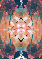 floral angelic abstract rennaisance pattern illusions psychedelic trance