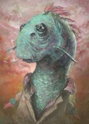 eel fish portait digital painting ronan lynam animal animals smoking popular