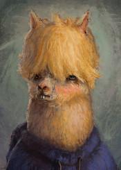 funny cute animal llama alpaca ronan lynam digital painting drawing lol wtf