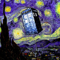 The Tardis in the Starry Night - Dr. Who and Vincent Van Gogh mashup