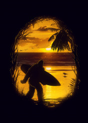 bigfoot hideout surf surfing wave ocean nature sun sunrise sunset
