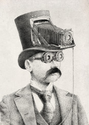 photography surreal victorian camera vintage moustache