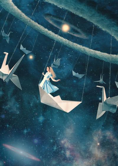 Paula  Belle Flores Cosmic Dreams   Displate Prints on Steel