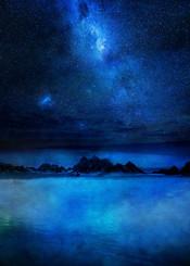 landscape blue stars fineart mixedmedia textures