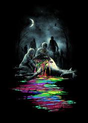 zombie zombies unicorn pop popart horror humor illustration