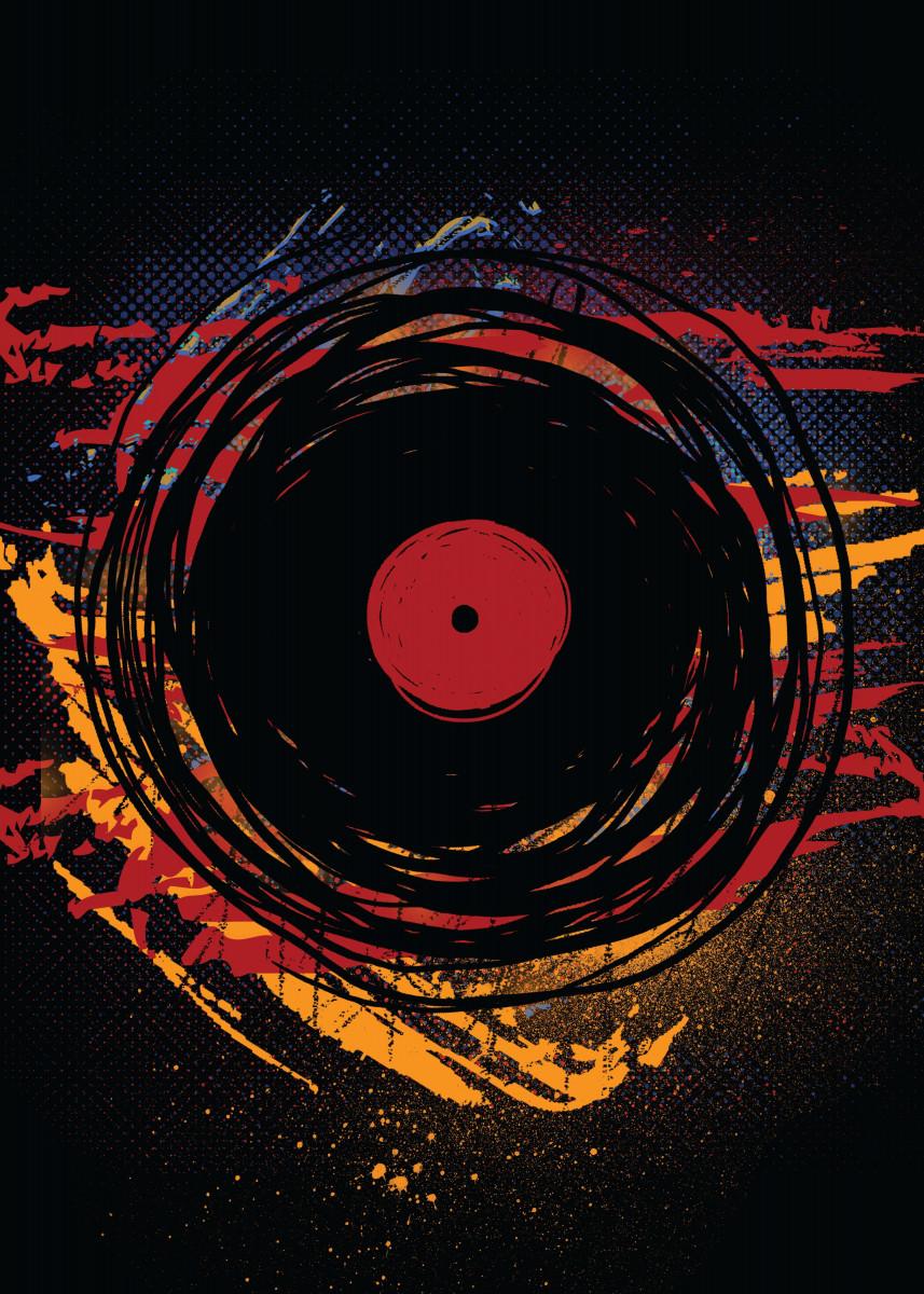 Vinyl Record Music Paint Scratches DJ Art