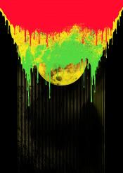 abstract moon bright colors illustration graphic design art barmalisirtb