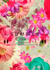 floral summer love typography quote indie bohemian